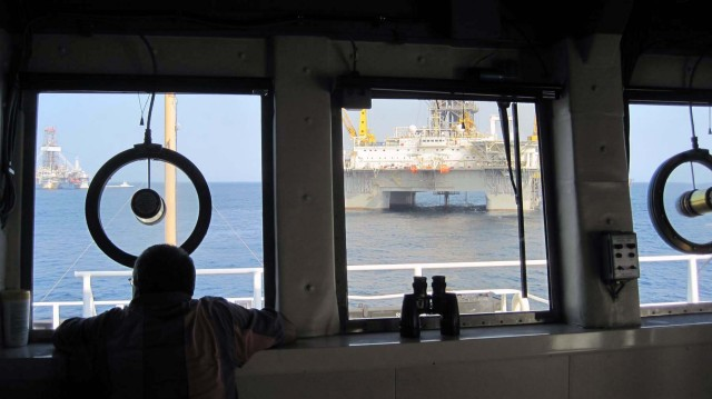 Deepwater Horizon MC252 from the Bigelow wheelhouse