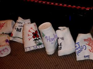 decorated styrofoam cups