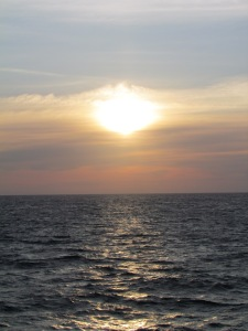 view of the atlantic ocean as seen from a NEFSC survey on the research  vessel Bigelow