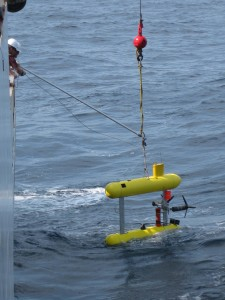 Launching Mola Mola AUV  from the Henry Bigelow
