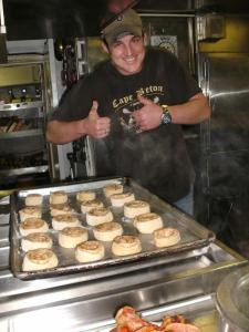 \making baked goods