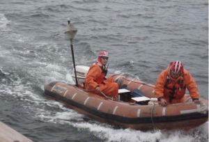 two in rescue boat