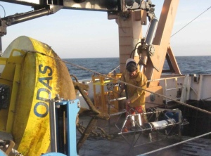Washing the rescued buoy