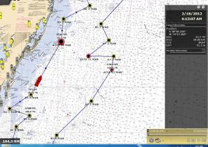 ship track on map