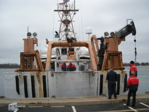 Stern of departing Delaware II