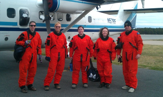 Northeast AMAPPS aerial survey team. Photo by Mary Jo Barkaszi.