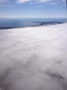 fog over Cape Cod