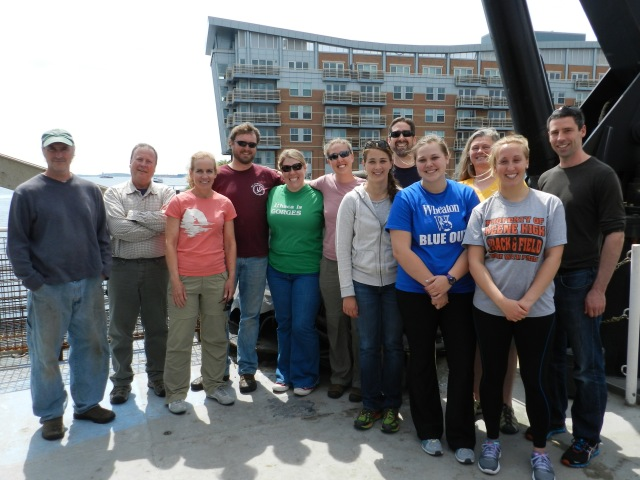 Left to Right: Tim Cole, Pete Duley, Melanie Lyte, Chris Tremblay, Nadine Lysiak, Allison Henry, Barbara Beblowski, Mark Baumgartner, Whitney Sitzer, Lisa Conger, Kira Kasper, Steven Brady. Photo Credit: Marc Weekley, NOAA