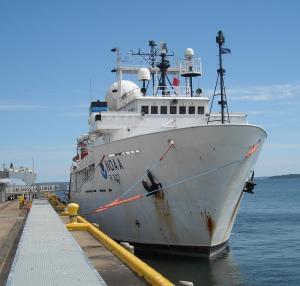 Okeanos Explorer at dock