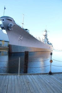 The 887-foot battleship Wisconsin is on exhibit at the Nauticus Museum  in Norfolk.