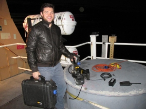 mike Ryna departs ships with equipment
