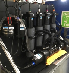 bio optical instruments hooked to flowthru seawater system