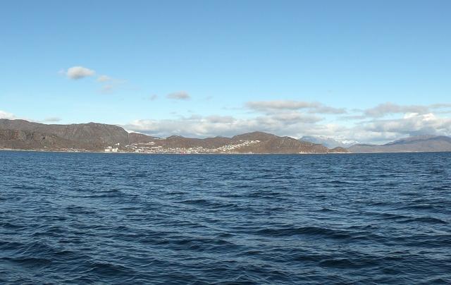 Qaqortoq, Greenland from the sea